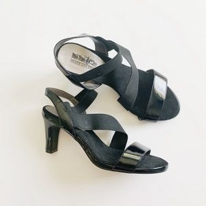 Coach and Four Black Strappy Heeled Sandals 7.5